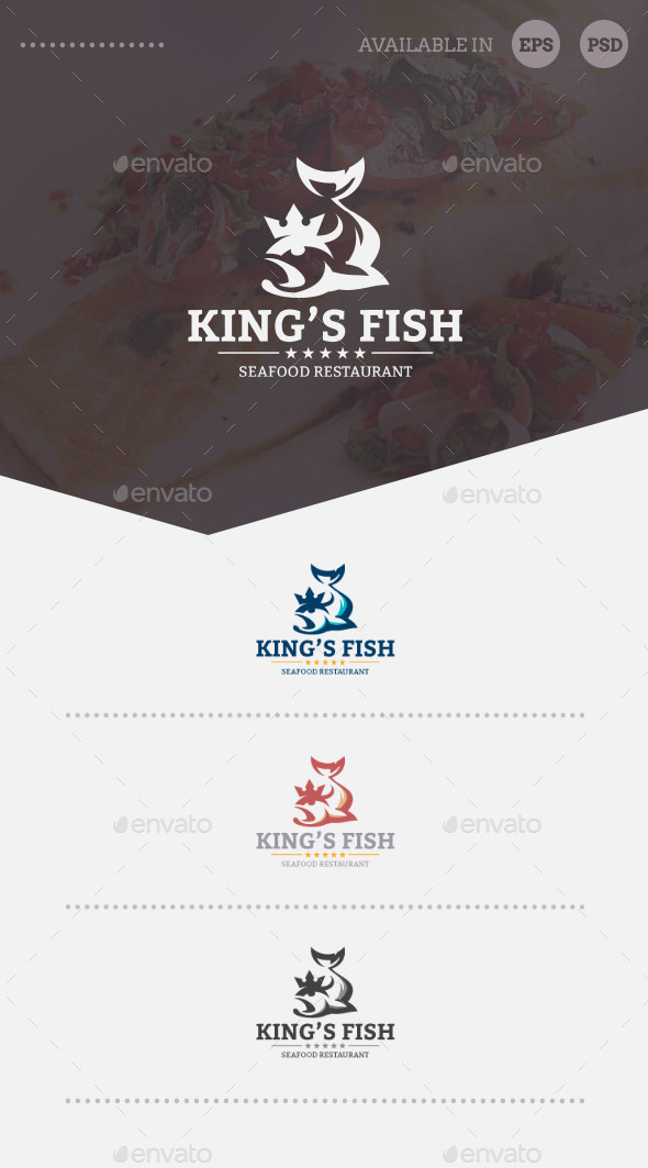King's Fish Logo Template - Animals Logo Templates