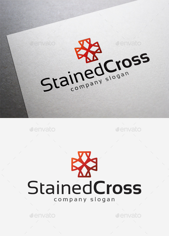 Stained Cross Logo - Symbols Logo Templates