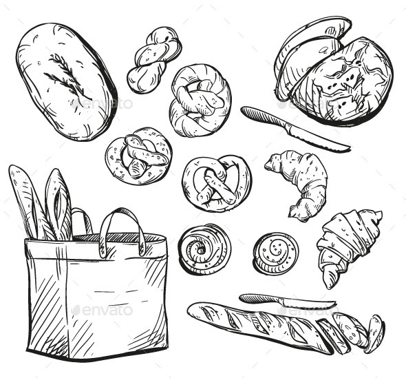 Bakery Items - Food Objects