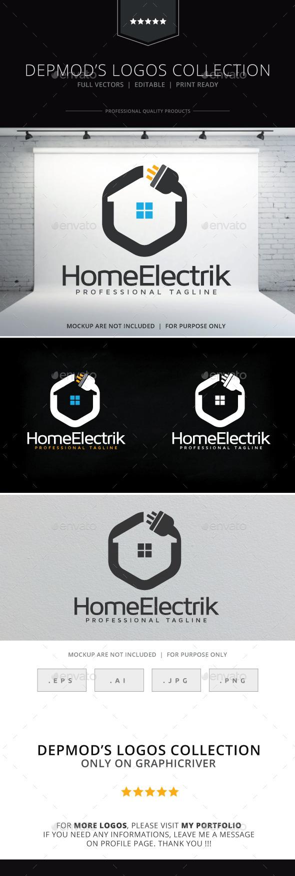 Home Electrik Logo - Symbols Logo Templates
