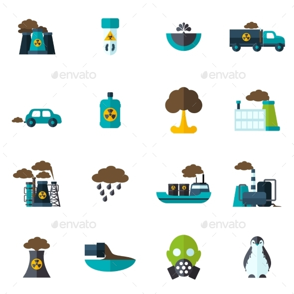 Pollution Icon Flat - Icons
