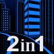 Neon Glow Night City Loop (2-Pack) - VideoHive Item for Sale