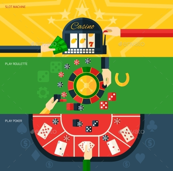 Casino Banner Set - Sports/Activity Conceptual