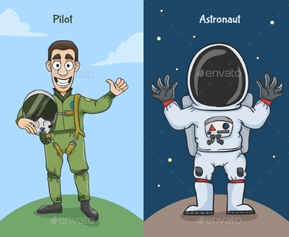 Astronaut and Pilot Characters - People Characters