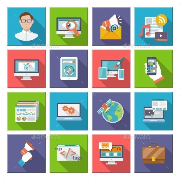 Seo Internet Marketing Flat Icon - Software Icons