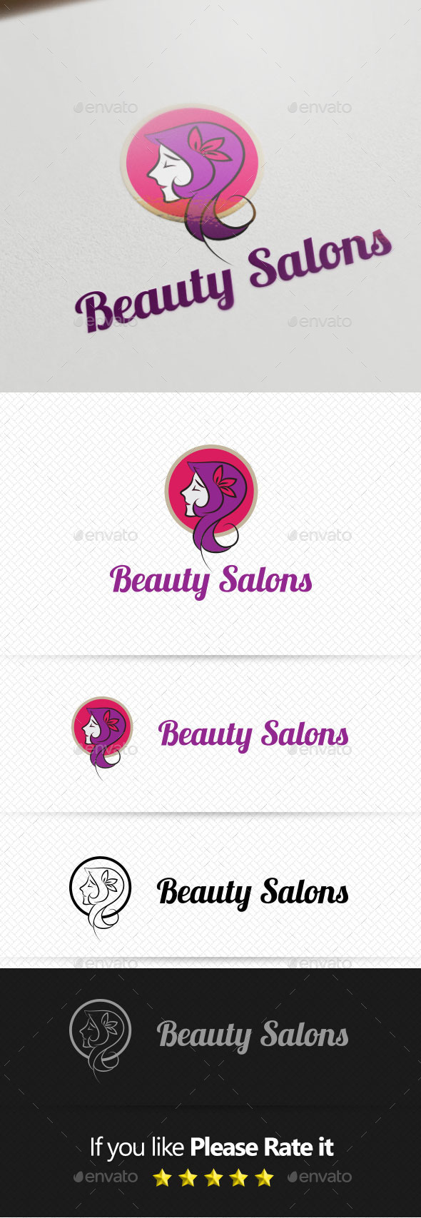 Beauty Salons Logo Template - Objects Logo Templates