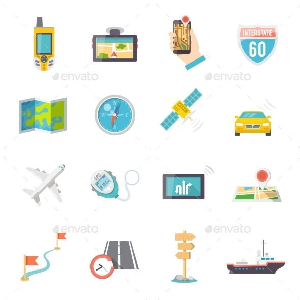 Navigation Icons - Computers Technology