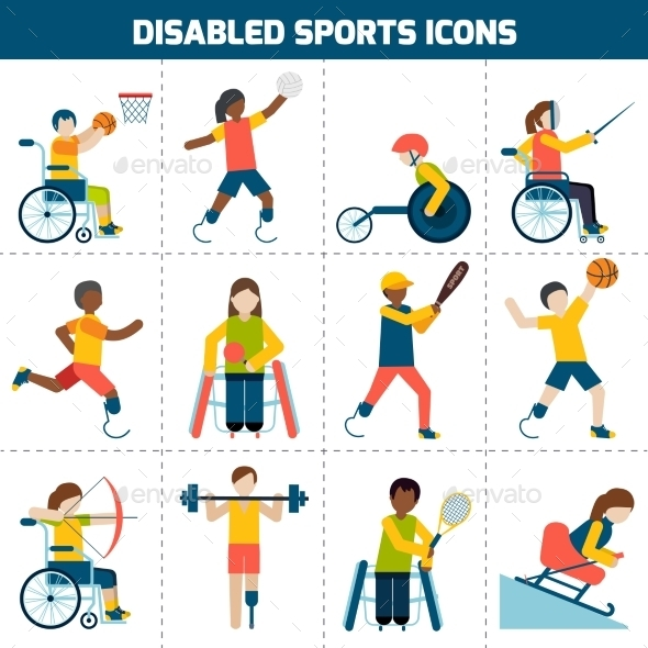 Disabled Sports Icons - Sports/Activity Conceptual