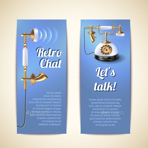 Telephone Vertical Banners  - Retro Technology