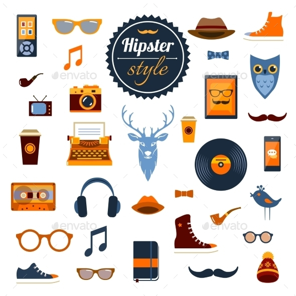 Hipster Elements Set - Miscellaneous Vectors