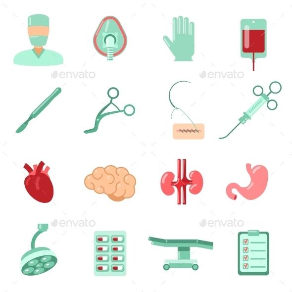 Surgery Icons Set - Health/Medicine Conceptual