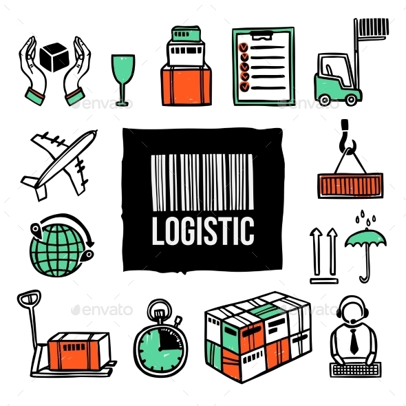 Logistic Icon Set - Business Conceptual