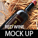 Red Wine Mock Up - GraphicRiver Item for Sale