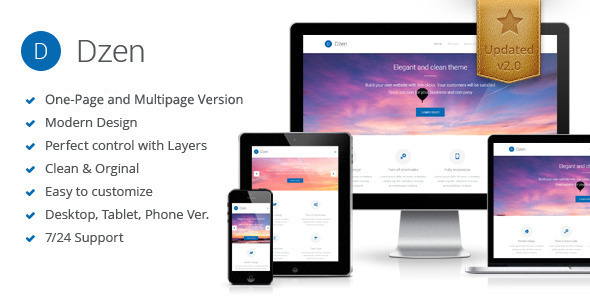 Dzen - Multipurpose Muse Template - Corporate Muse Templates