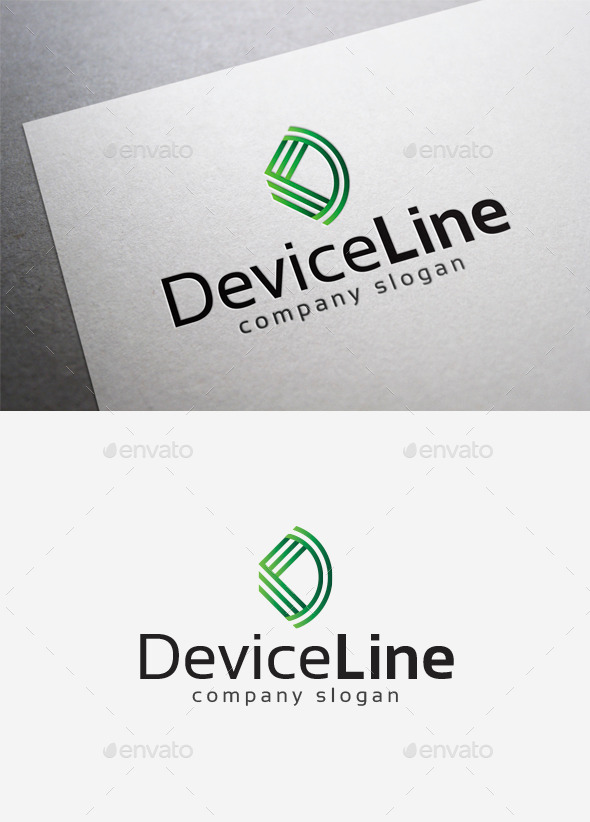Device Line Logo - Letters Logo Templates