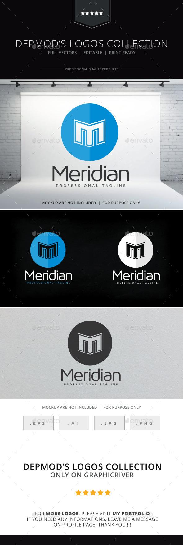 Meridian Logo - Letters Logo Templates