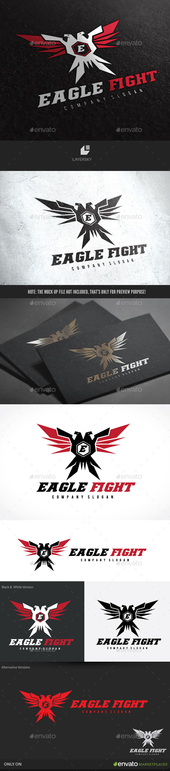 Eagle Fight - Animals Logo Templates