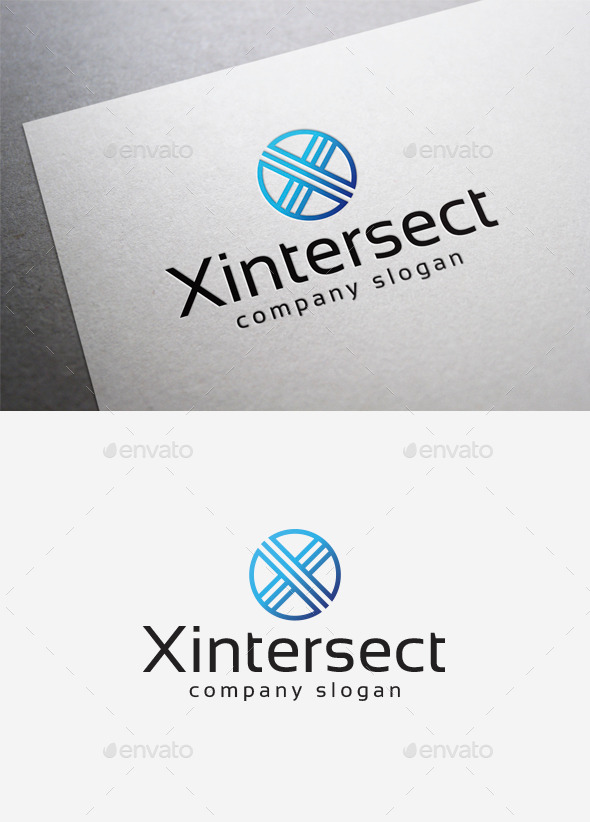 X Intersect Logo - Letters Logo Templates