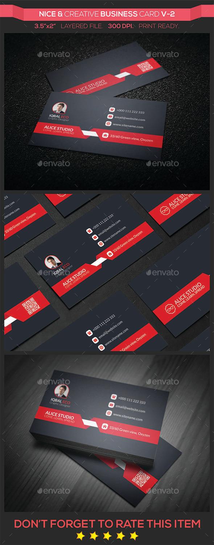 Nice & Creative Business Card V-2 - Creative Business Cards