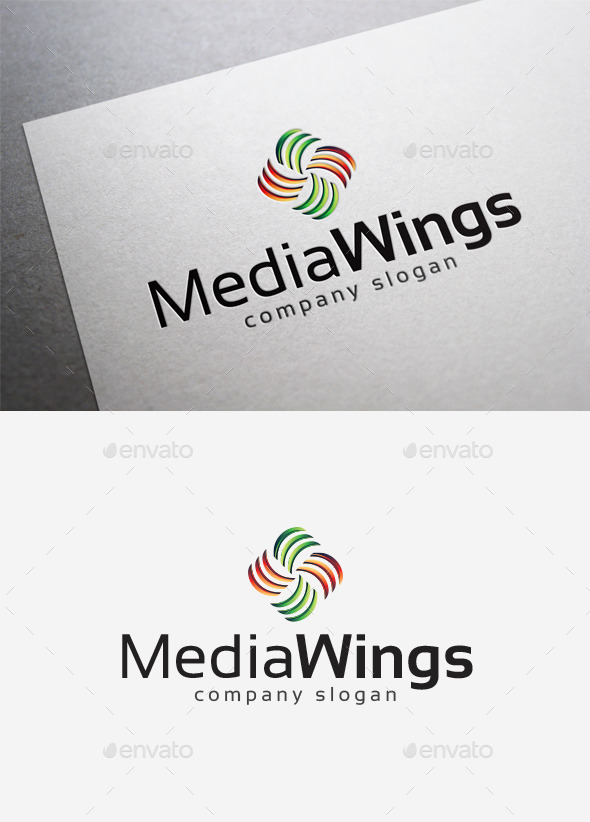 Media Wings Logo - Abstract Logo Templates