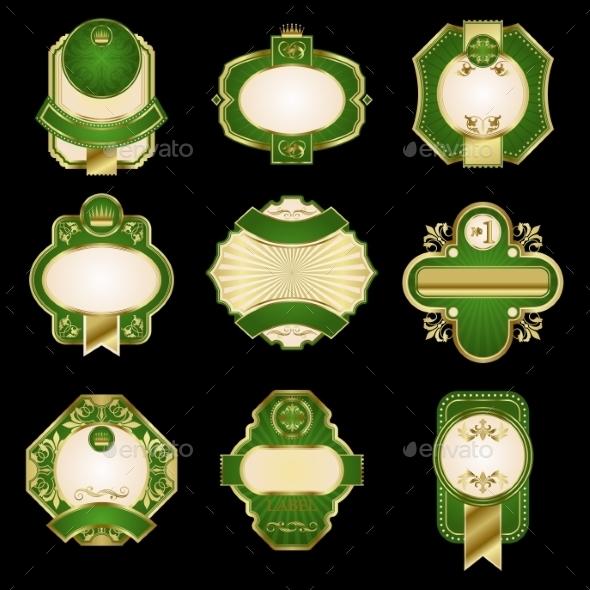 Golden Luxury Labels - Borders Decorative