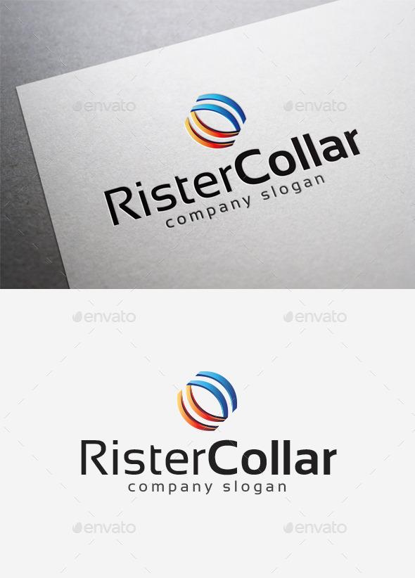 Rister Collar Logo - Abstract Logo Templates