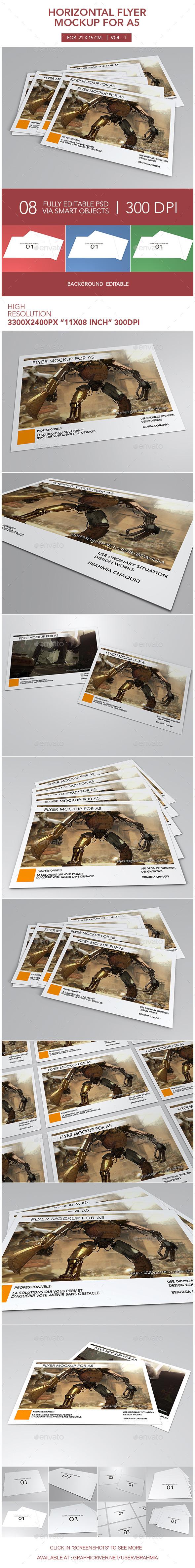 Horizontal Flyer Mockup for A5 - Flyers Print