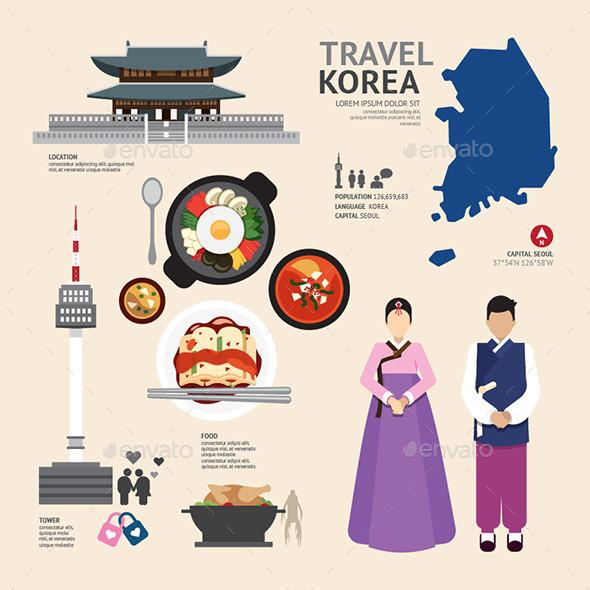 Infographic Korea Travel Design - Infographics