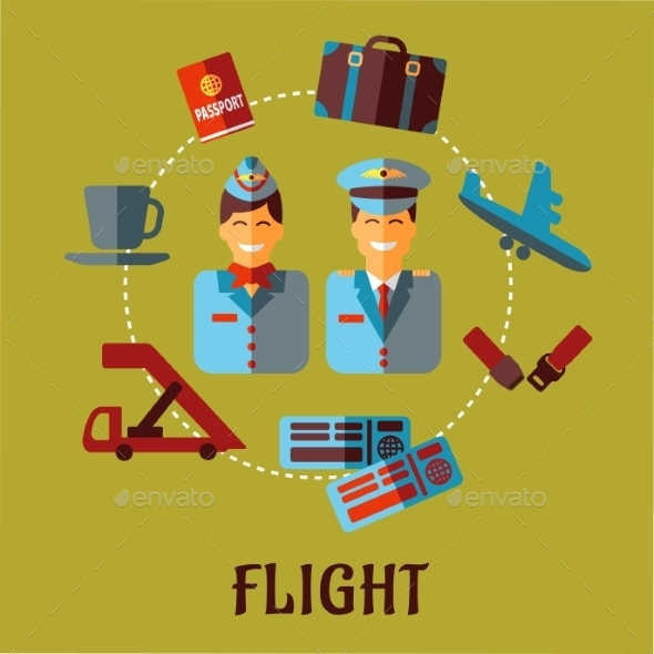 Flat Air Traveling Infographic - Travel Conceptual
