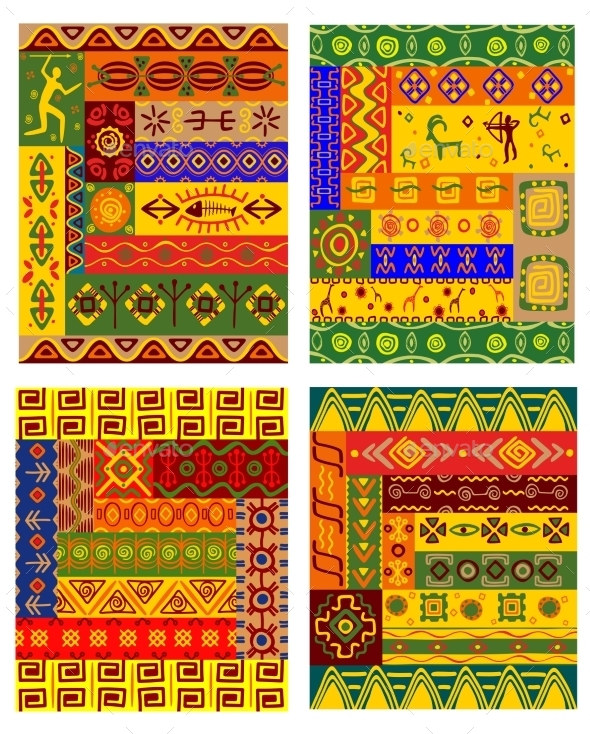 Ethnic Abstract Pattern in African Style - Patterns Decorative