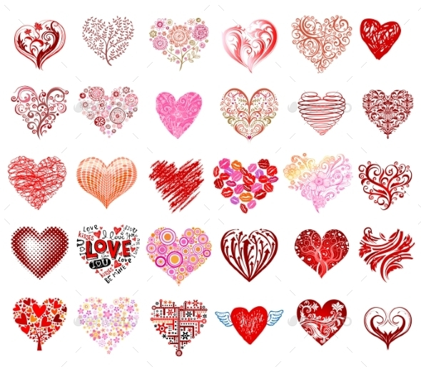 Vector Hearts - Valentines Seasons/Holidays
