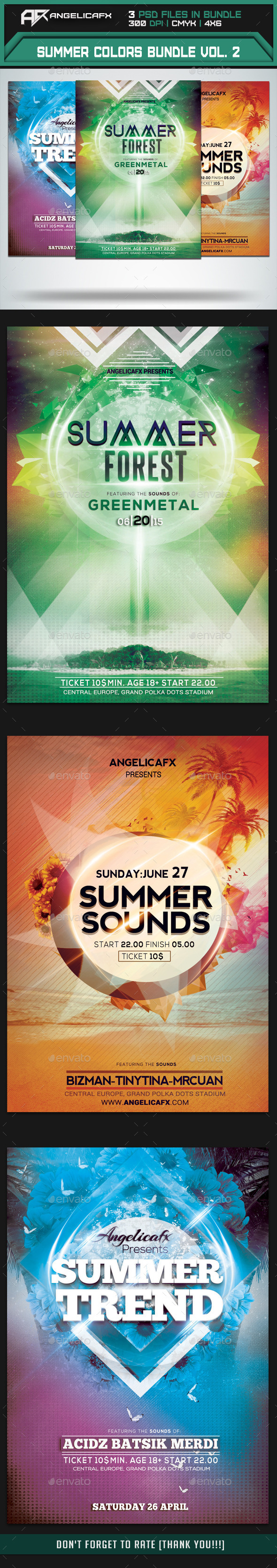 Summer Colors Flyer Bundle Vol. 2 - Events Flyers