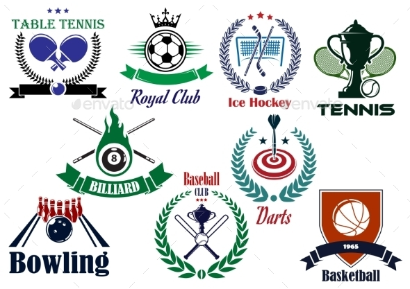 Competitive Team Sports Heraldic Emblems - Sports/Activity Conceptual