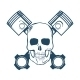 Skull and Pistons - GraphicRiver Item for Sale