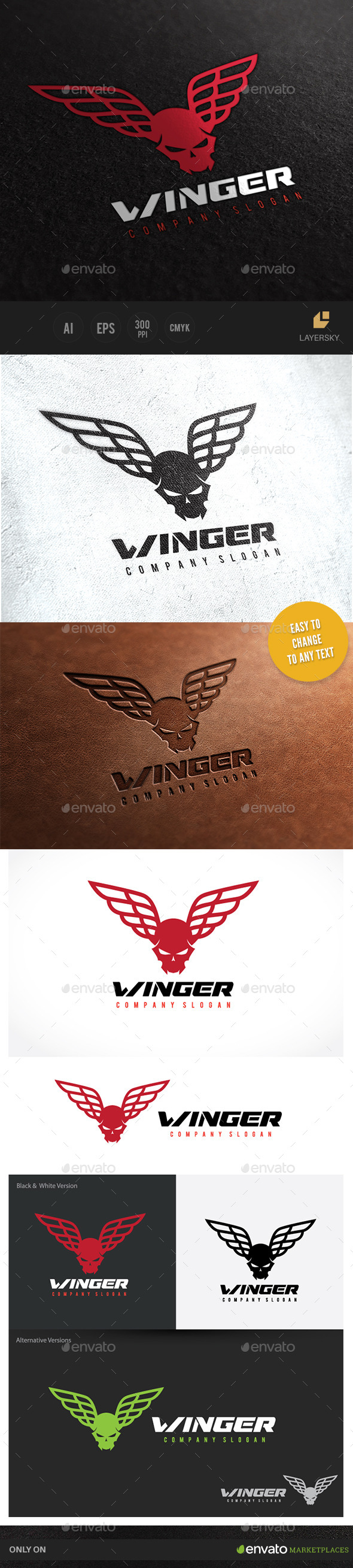 Winger Logo - Crests Logo Templates