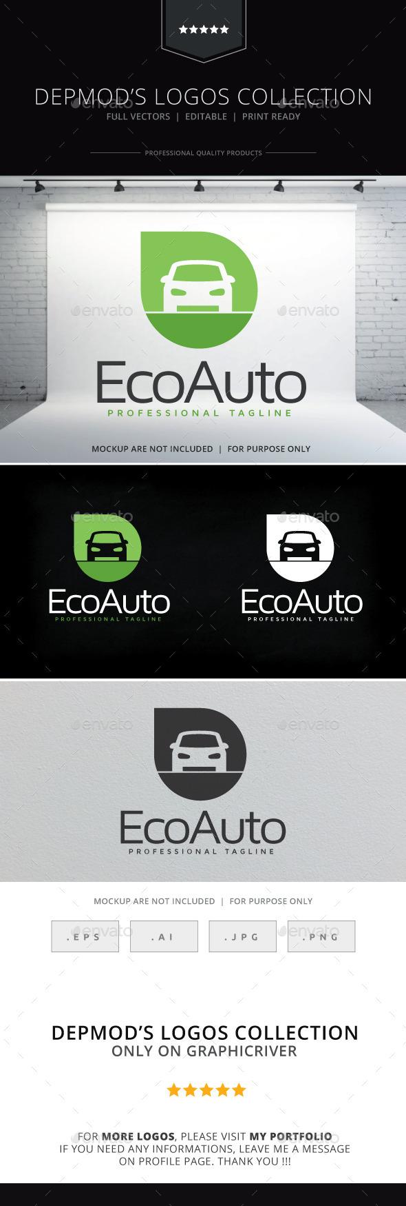 Eco Auto Logo - Objects Logo Templates