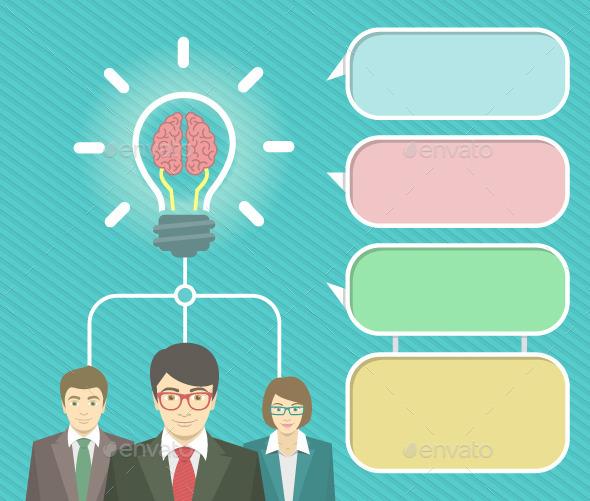 Business Idea Infographics Elements - Concepts Business