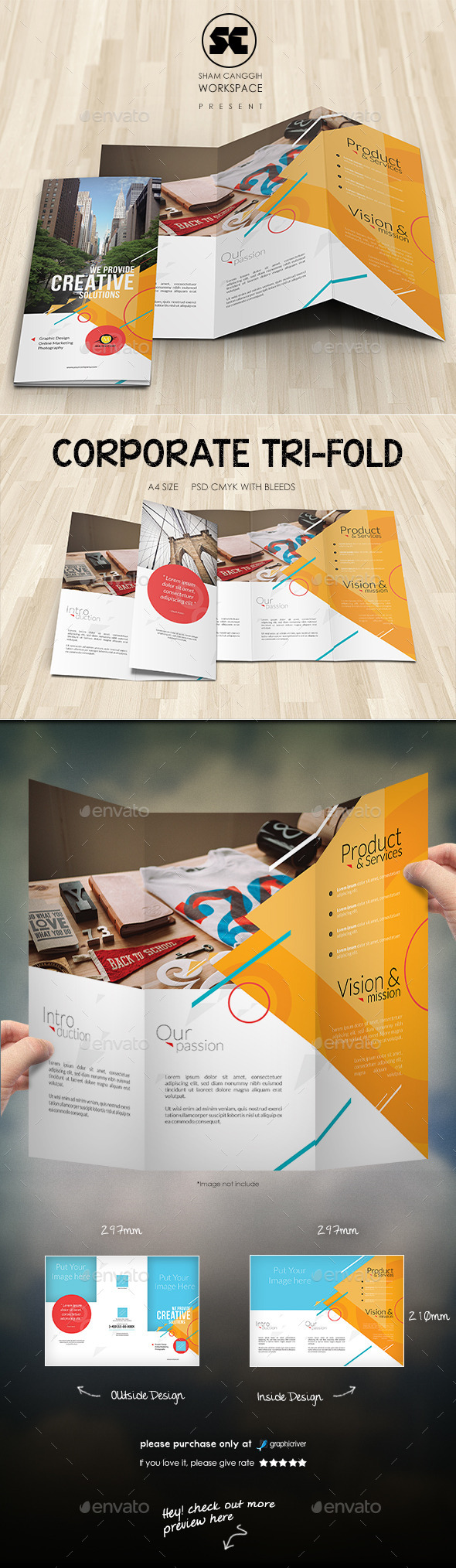 Creative Corporate Tri-Fold - Corporate Brochures