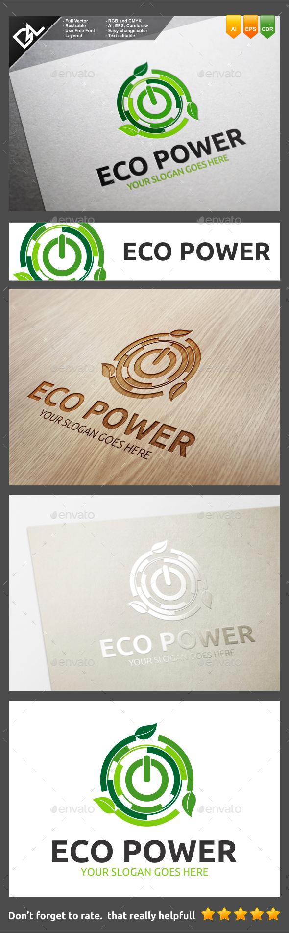 Eco Power - Symbols Logo Templates