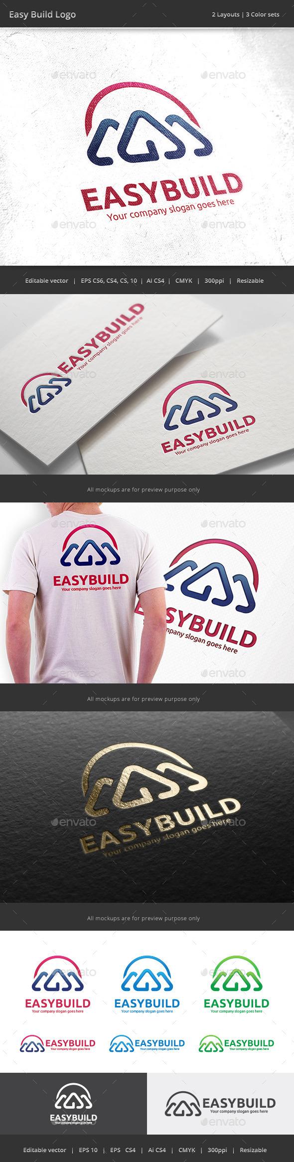 Easy Build House Logo - Buildings Logo Templates