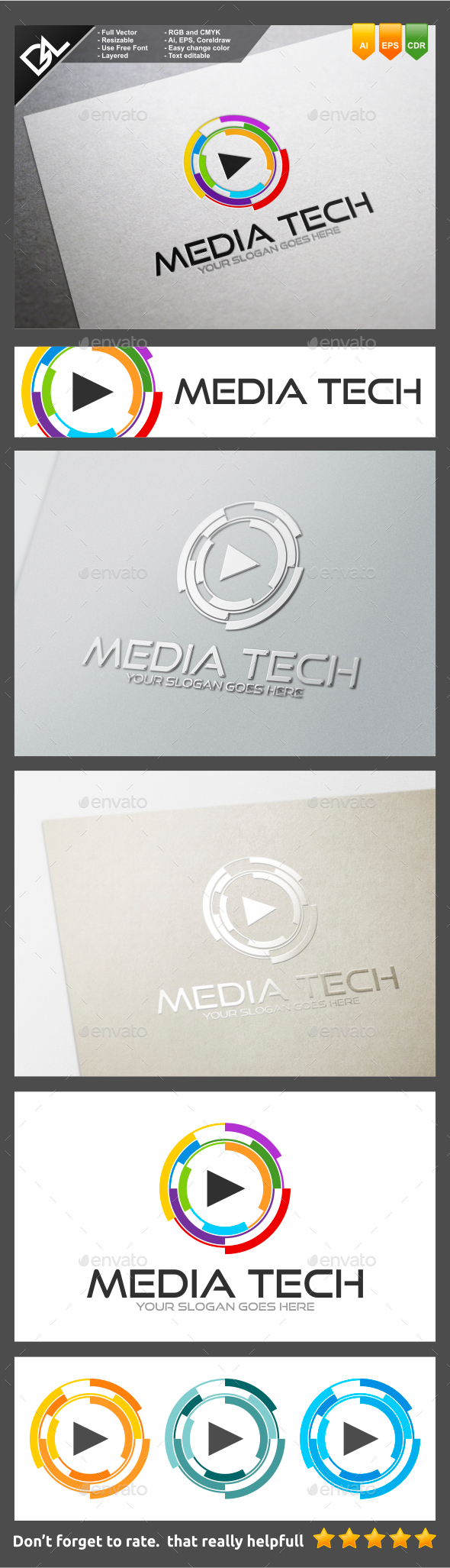 Media Tech - Symbols Logo Templates