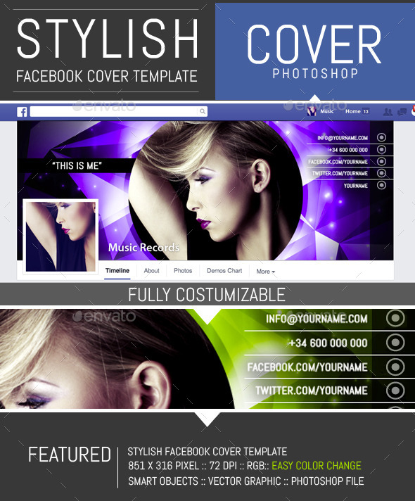Shiny Dj and  Musician Facebook Cover Template - Facebook Timeline Covers Social Media