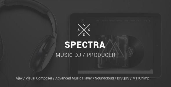 SPECTRA – Responsive Music WordPress Theme