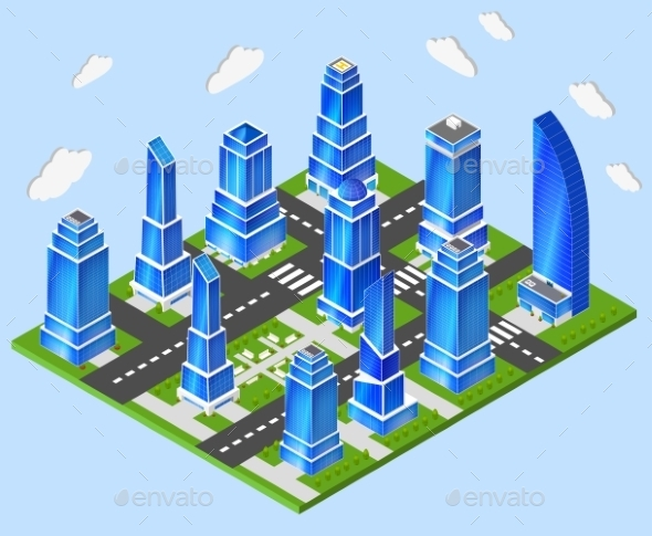 Office City Center - Buildings Objects