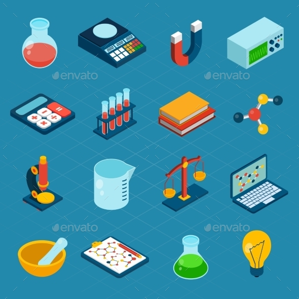 Isometric Science Icons - Conceptual Vectors