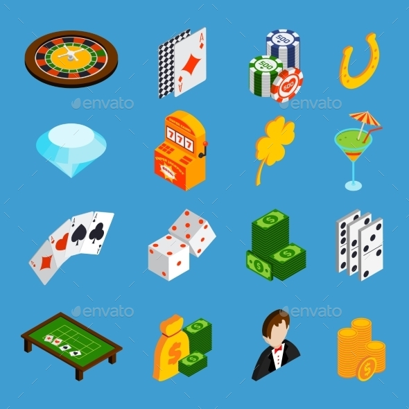 Casino Isometric Icons Set - Miscellaneous Conceptual