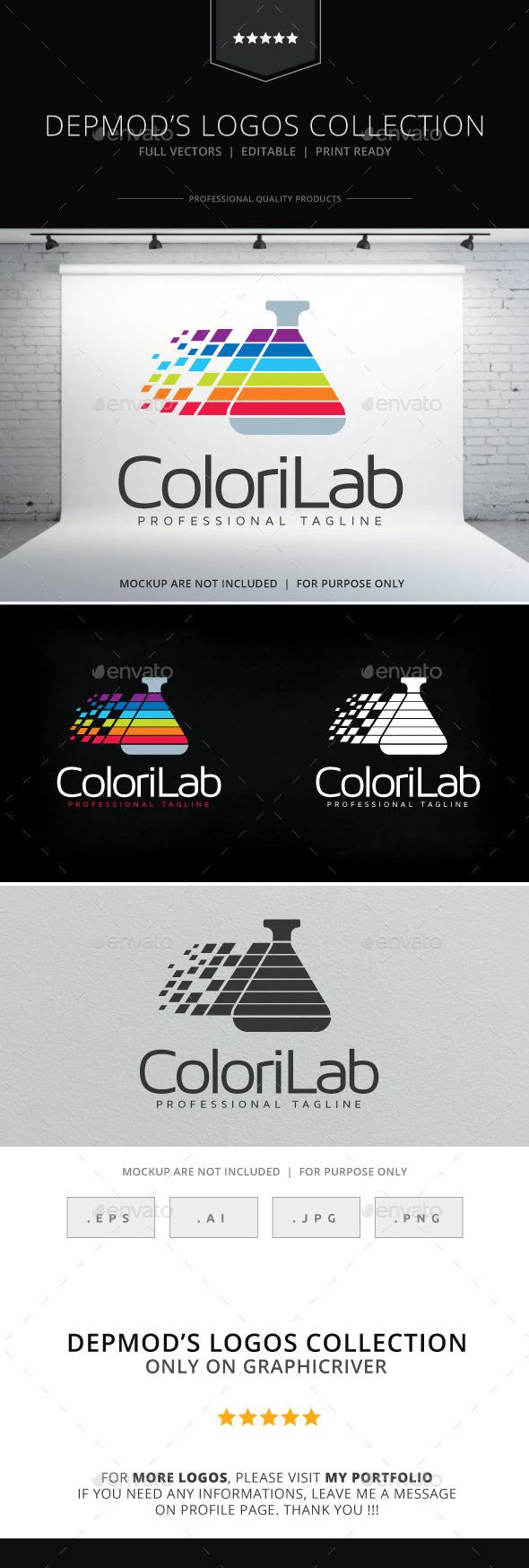 Colori Lab Logo - Symbols Logo Templates