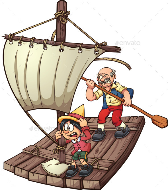 Pinocchio on a Raft - People Characters