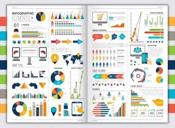 Flat infographic set - Infographics