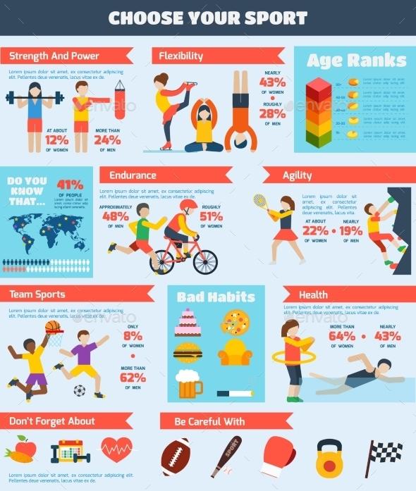 Sports Infographics Set - Infographics